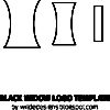 Black Widow logo template by Wilde Designs
