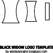 Black Widow logo template by Wilde Designs