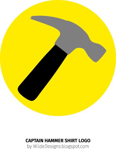 Captain Hammer Shirt Logo