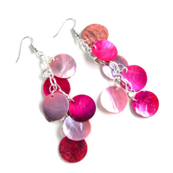 Rose Quartz Mythical Scale Earrings