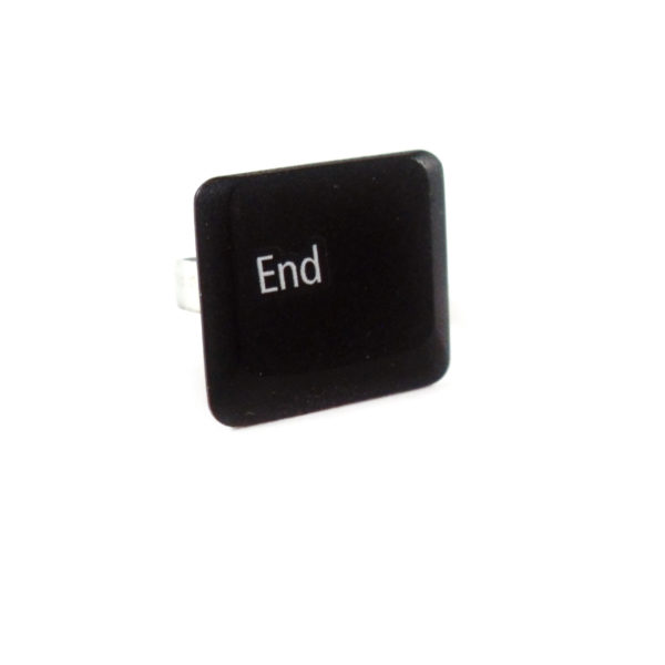 Keyboard Key End Special Character Ring by Wilde Designs