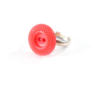 Coral Bead Ring by Wilde Designs