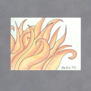 Fire Art Card By Wilde Designs