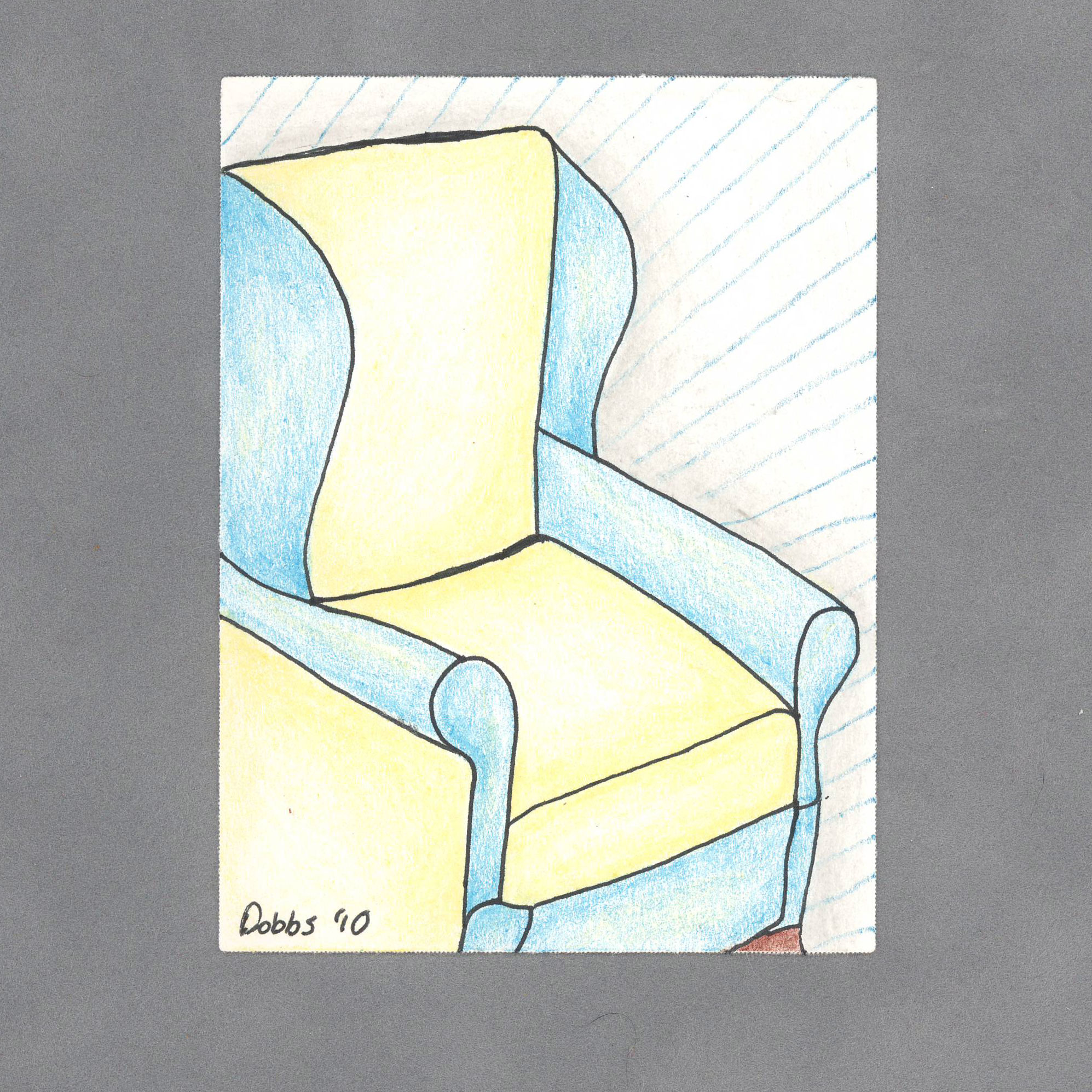 Grandmadas Chair Art Card By Wilde Designs
