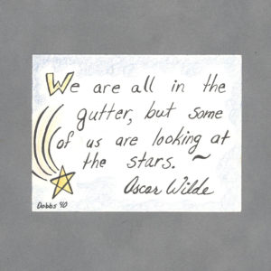 Look at the Stars Art Card by Wilde Designs