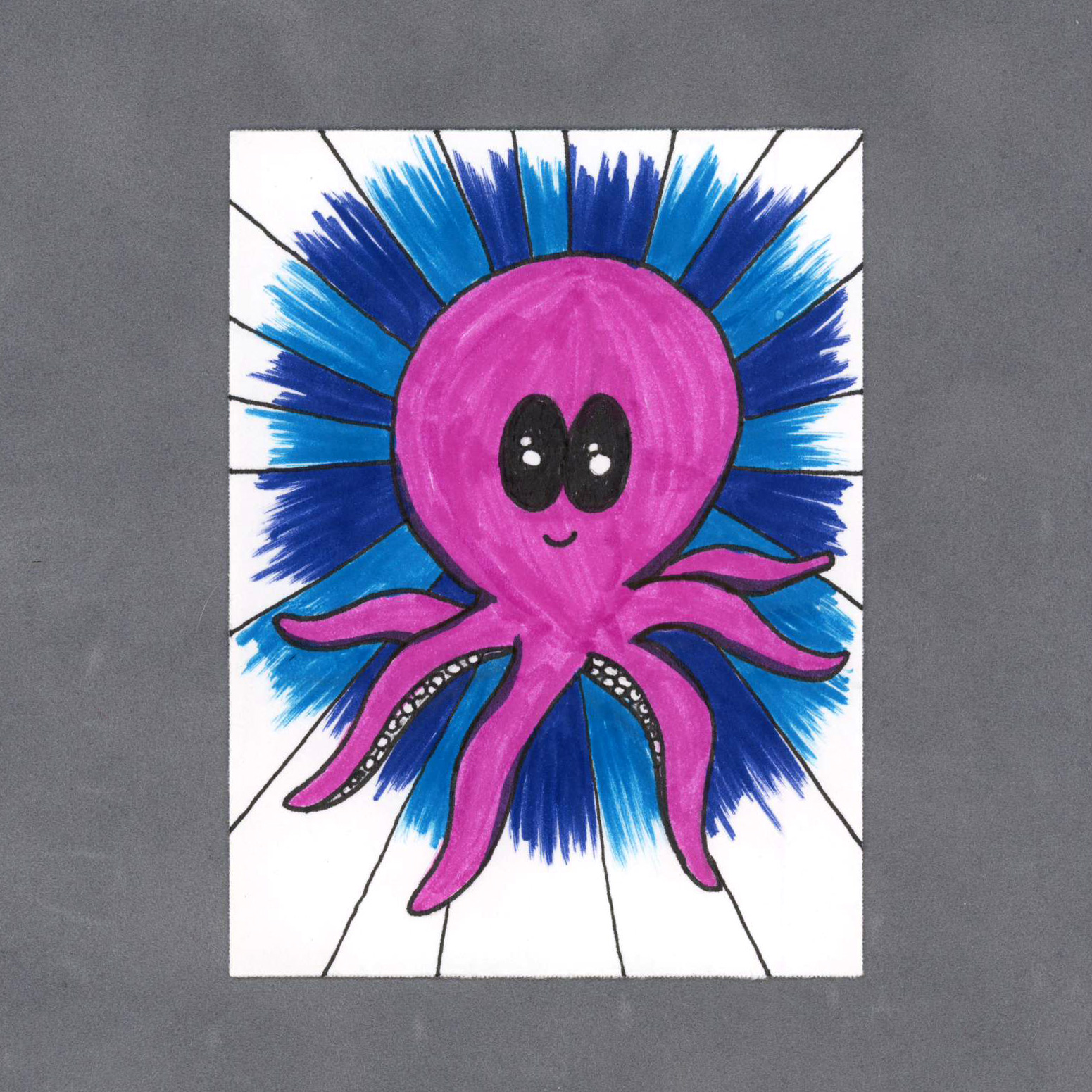Kawaii Octopus Art Card