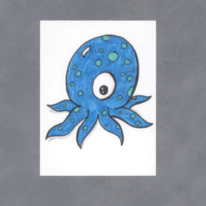 Kawaii Octopus Art Card by Wilde Designs