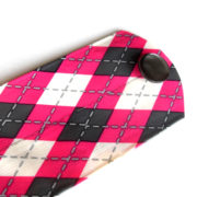 Pink Plaid Duct Tape Cuff Bracelet by Wilde Designs