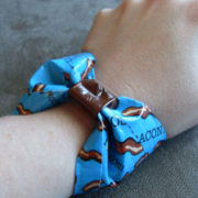 Bacon Bow Duct Tape Bracelet by Wilde Designs