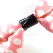 Pink Polka Dot Duct Tape Bow Bracelet by Wilde Designs