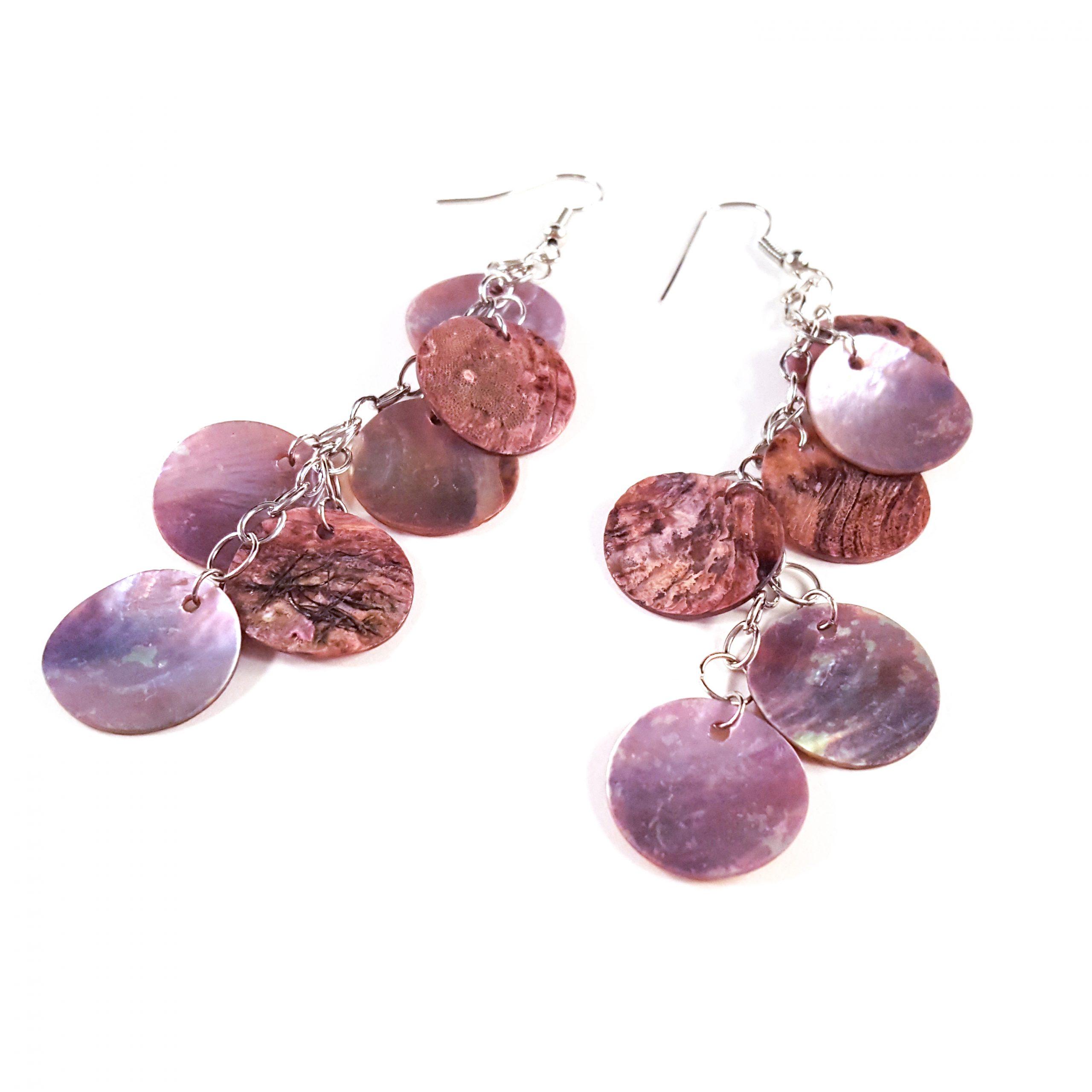 Lilac Mermaid Scale Earrings by Wilde Designs