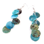 Aqua Blue Mermaid Scale Earrings by Wilde Designs