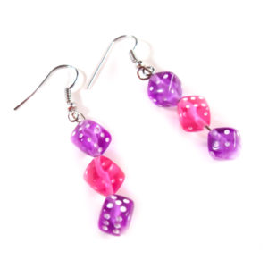 Gamer Girl Dice Earrings by Wilde Designs