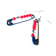 Geeky Character Inspired Safety Pin Earrings Team Steve
