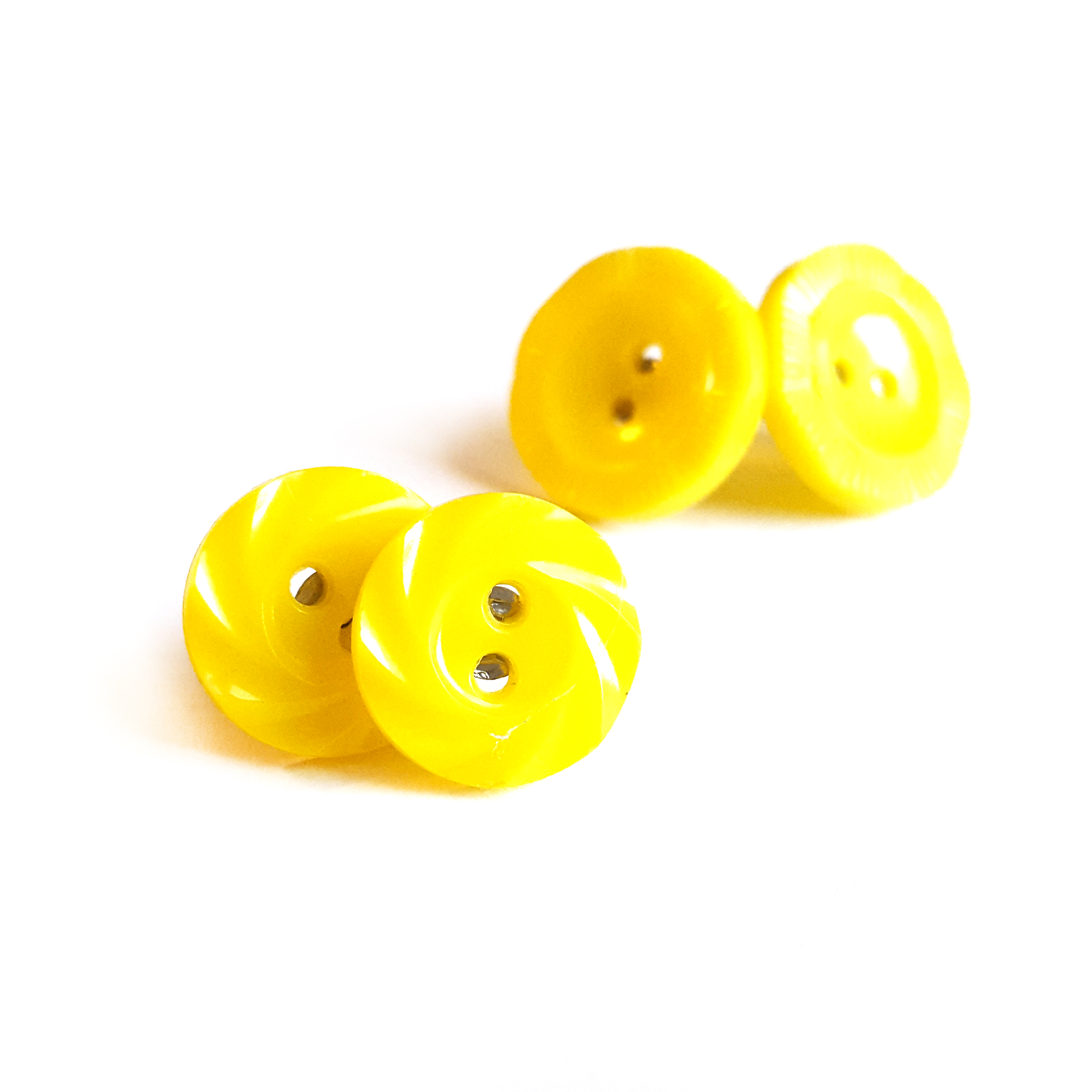 Yellow Button Earrings by Wilde Designs