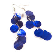 Cobalt Blue Hatchling Dragon Scale Earrings by Wilde Designs