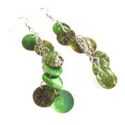 Green Hatchling Dragon Scale Earrings by Wilde Designs