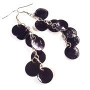 Black Hatchling Dragon Scale Earrings by Wilde Designs