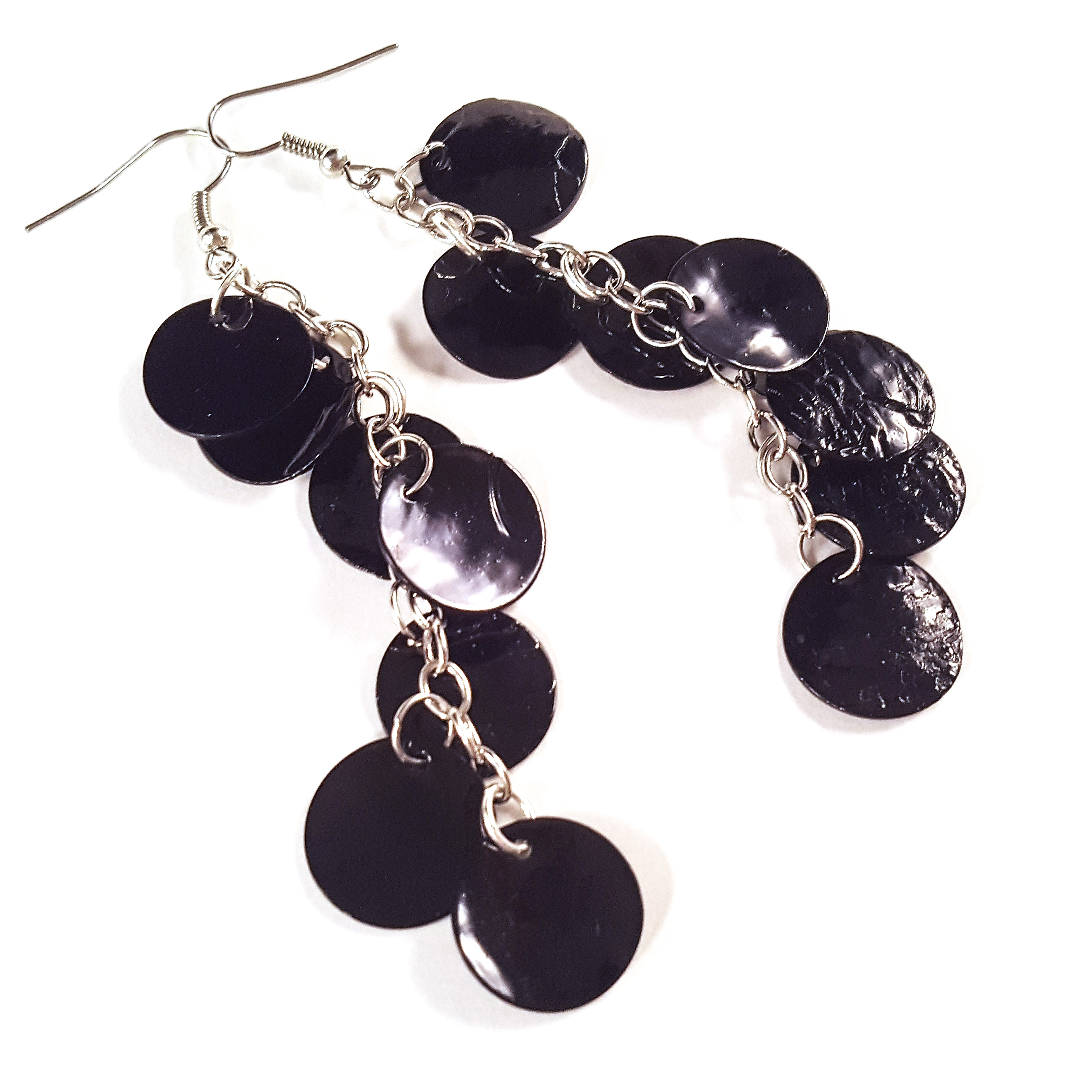 Black Hatchling Dragon Scale Earrings by Wilde Designs
