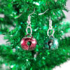 Jingle All the Way Earrings in Red & Green by Wilde Designs