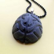 Black Brain Necklace by Wilde Designs