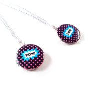 Comic Pow Locket Necklace by Wilde Designs