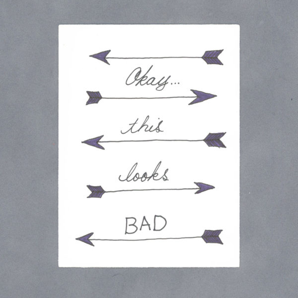 This Looks Bad Art Card by Wilde Designs