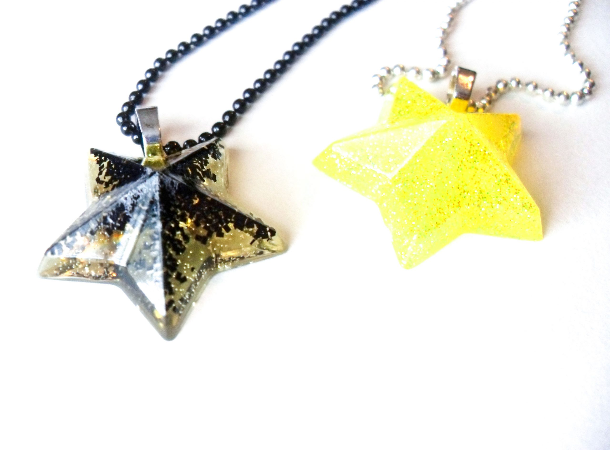 Glittery Star Necklaces by Wilde Designs