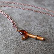 Copper Retro Ray Gun Necklace by Wilde Designs