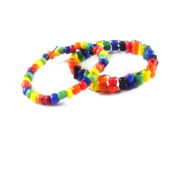 Rainbow Bead Ring Set by Wilde Designs
