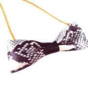 Snakeskin Bow Tie Necklace by Wilde Designs