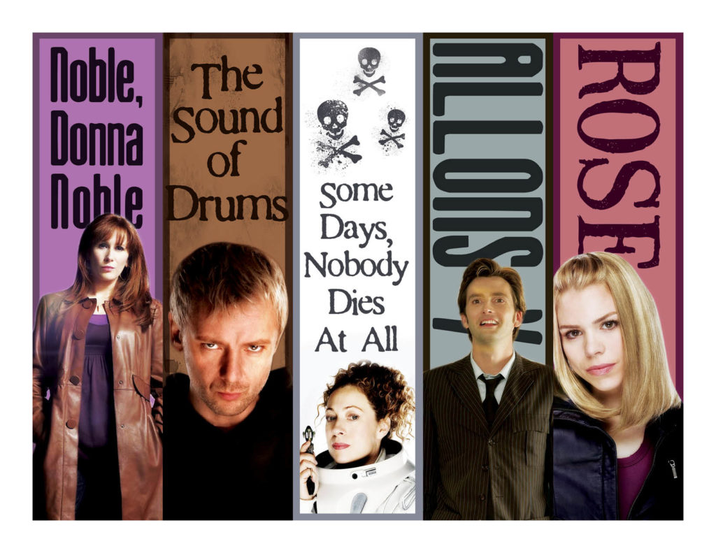 Tenth Doctor Bookmarks by Wilde Designs