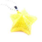 Glittery Yellow Star Necklace by Wilde Designs