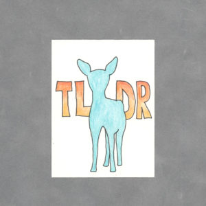 Teal Deer Art Card by Wilde Designs
