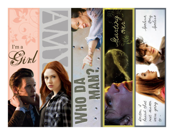 Eleventh Doctor Bookmarks by Wilde Designs