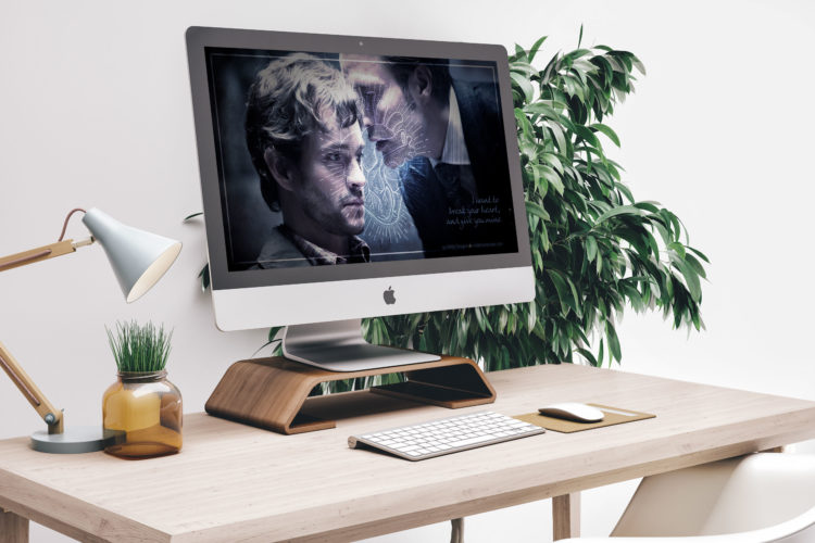 Hannibal You Look so Fine Wallpaper mockup