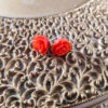 Kawaii Rose Earrings by Wilde Designs in Black