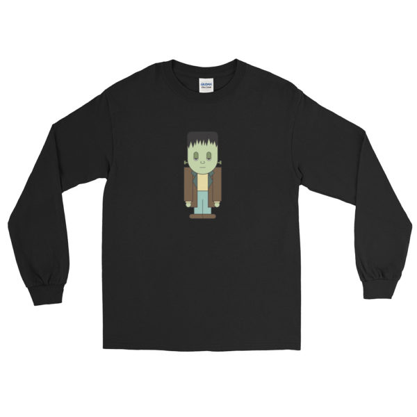 Kawaii Frankenstein's Monster Long Sleeve tshirt by Wilde Designs