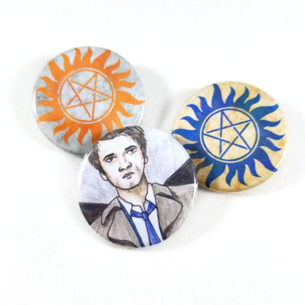 Supernatural Button Set by Wilde Designs