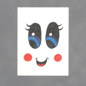 Kawaii Face Art Card by Wilde Designs