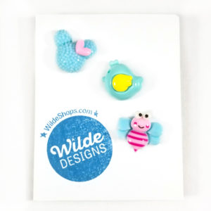 Kawaii Critters Button Set Seafoam Trio