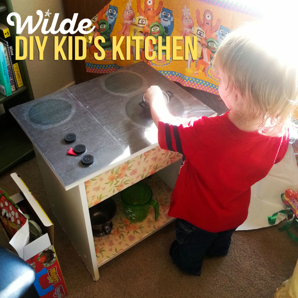 DIY Kid's Kitchen by WIlde Designs