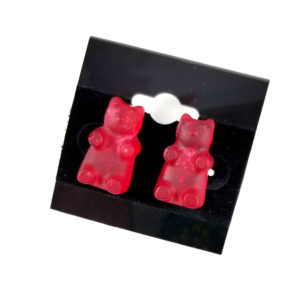 Sparkly Red Gummy Bear Earrings by Wilde Designs