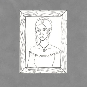 Portrait of a Lady Art Card by Wilde Designs