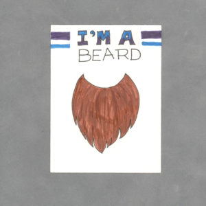 I'm a Beard Art Card by Wilde Designs