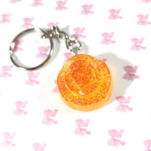 Yellow Rose of Texas Resin Keychain by Wilde Designs