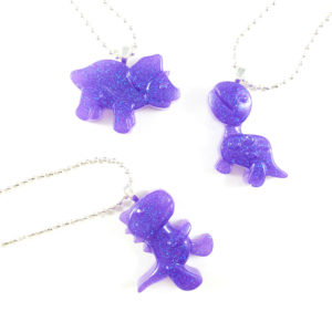 Jurassic Cutie Dinosaur Resin Necklaces by Wilde Designs