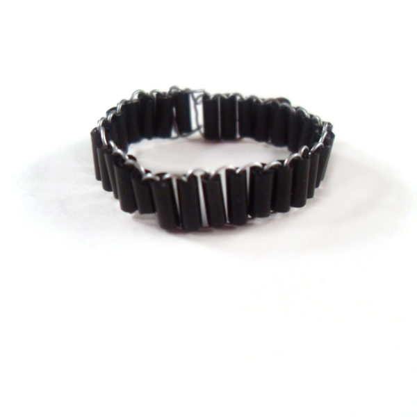Gothic Black Bead Ring by Wilde Designs