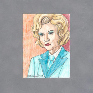 Elsa Mars Art Card by Wilde Designs